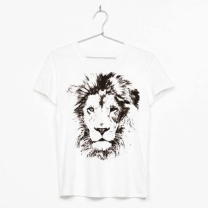 león blanco y negro